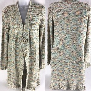 BCBGMAXAZRIA Multicolor Knit Long Cardigan